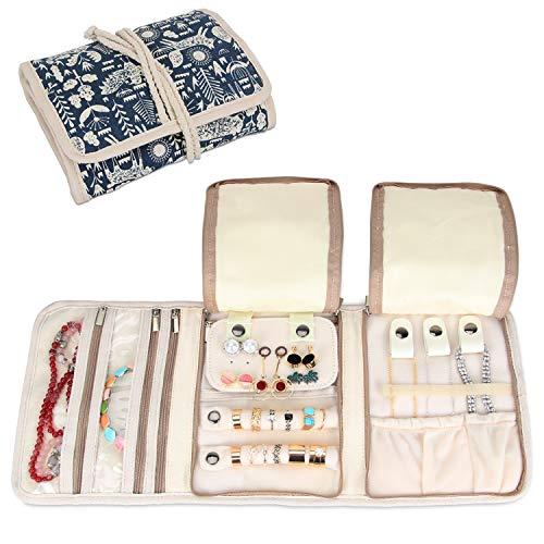 Teamoy Schmuckrollen, Schmucktasche für Ringe Ohrringe Halskette,schmuck, ketten, armreifen, halsketten und mehr schmuck und viele verschiedene Abteilung, Animal World