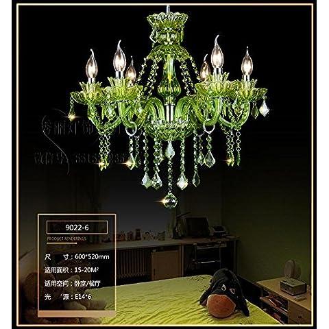 Ty140-Testa singola piccoli lampadari a personalizzare il villaggio creativo lampadario in ferro lampadari creative lampade a soffitto lampade retrò verde