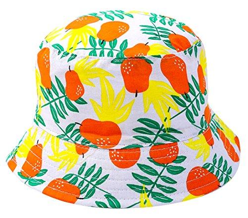 Happy Cherry Sombrero Pescador Infantil Gorro de Cubo para Niños Unisex  Protección del Sol Estampado Frutas fd99e9feb13