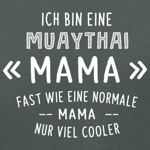 Ich bin eine Muathai Mama - Damen T-Shirt - 14 Farben Dunkelgrau