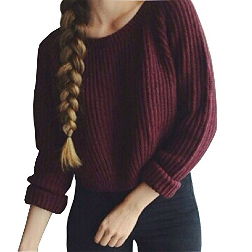 Pour femmes Baggy manches longues Pull Uni Grosse Pull tricoté pour les pulls TOPS