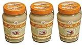 3x Tahini mit Honig aus Makedonien a 350g (1050g) Sesampaste Sesammus Sesam Paste Mus Creme Spar Set + Probiersachet Olivenöl aus Kreta 10 ml