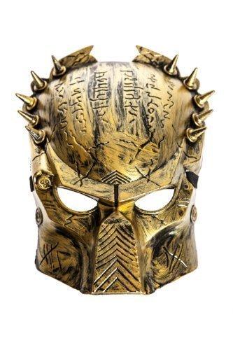 kleidung Maske Gold oder Silber - Gold (Alien Und Predator Halloween Kostüme)