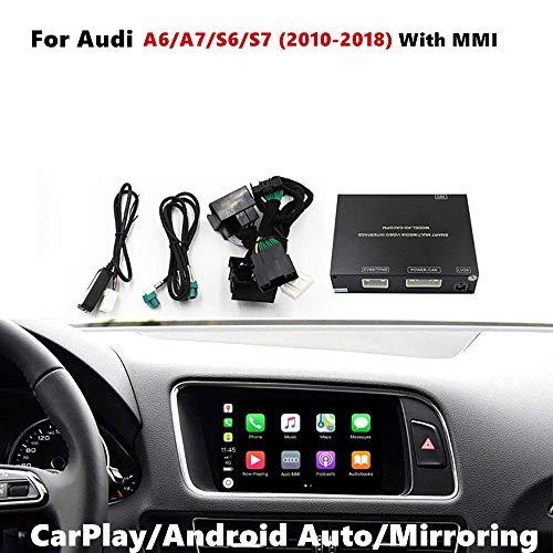 Auto Airplay Android Auto Carplay Box Schnittstelle Kompatibel für Audi A6 / A7 / S6 / S7 2010-2018 Werksbildschirm (Hands Free, Google GPS, Mirror Link)