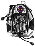 KISS GOLD (TM) wasserabweisende Hüfttasche Waist Bag Handytasche mit Karabiner & zwei Reißverschluss Taschen für Sport schwarz