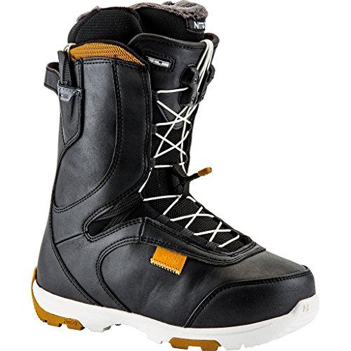 Nitro Snowboards Damen Crown Tls'17 Snowboardschuh, Black-Buckskin, 25.0 (Womens Boa Snowboard Burton Boots)