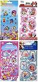 4 Bögen DISNEY Aufkleber mit beweglichen Teilen Stickerset mit Minnie Mouse, Winnie the Pooh, Frozen und Tiere der Prinzessinnen