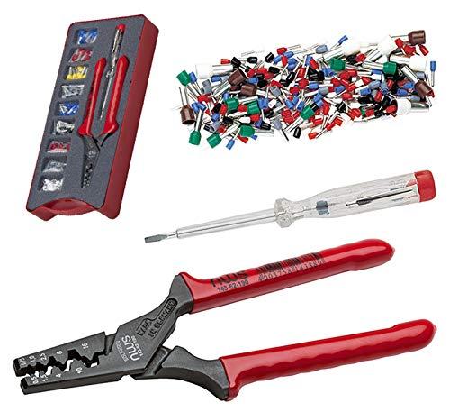 NWS 143-bis 143-bis Drücken Zange und Isolierte Kabelschuhe Sortiment, schwarz/rot