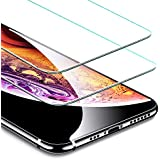 ESR Tempered Glass for iPhone XS Screen Protector/iPhone X Screen Protector [2 Pack] [Free Installation Frame] [Case-Friendly], Premium Tempered Glass Screen Protector for iPhone 5.8 inch
