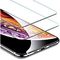 ESR Verre Trempé pour iPhone X/XS [Lot de 2] [Gabarit de Pose Inclu] [Taille Réduite conçue pour Les Coques] [Garantie à Vie], Film Protection Écran, Vitre Transparente pour iPhone X/XS