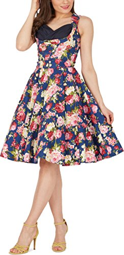 Black Butterfly 'Aura' Classic Divinity Kleid im 50er-Jahre-Stil (Nachtblau, EUR 52 – 5XL) - 4