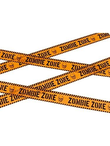 Zombie Absperrband (Halloween Party Deko Absperrband Zombie Zone 6m)