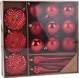 made2trade 15 teiliges Weihnachtsbaumschmuck Set - Rot