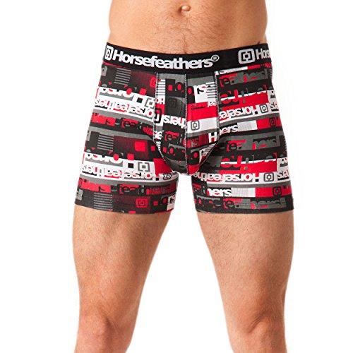 Horsefeathers Herren Unterwäsche Rhyme Boxer Shorts Red