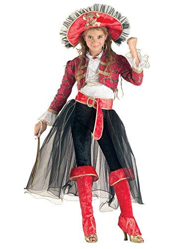 Chiber - costume da lady corsara vestito per ragazza bambina (taglia 8)