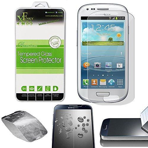 Xtra-Funky Vetro Temperato Compatibile con Samsung Galaxy S3 Mini (i8190) - Ultra Fine 0.26mm Protezione Dello Schermo Resistente ai Graffi - Tempered Glass
