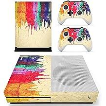 Pandaren completos placas frontales adhesivo Pegatinas para la consola Xbox One S y controlador x 2 (graffiti húmedo)[Instrucción en las listas de imágenes]