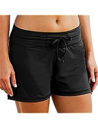 "Imixcity Femme Réglable Shorts de Bain Drawstring Swim Shorts Beachwear pour l' Yoga,Jogging,Natation,Plage,Piscine ""Boy Style"""