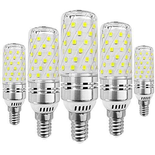 KitaBulb LED-Leuchtmittel, E14, Edison-Schraube, 16 W (Ersatz 120 W Glühlampe), 1400 lm, Kaltweiß 6000 K, 5 Stück