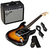 Set guitare électrique Fender Squier Affinity Strat Pack HSS BSB