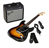 Fender 0301814632 Electric guitar Solid 6strings Black, Brown guitar - Guitars (6 strings, Nickel steel)