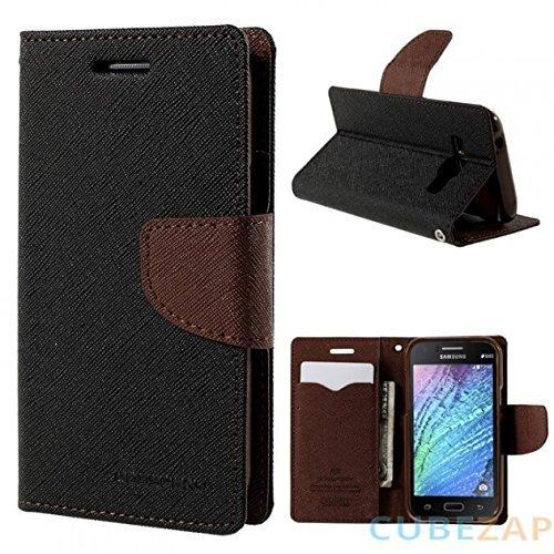 CEDO Stylish Luxury Mercury Magnetic Lock Diary Wallet Style Flip Cover Case for Lenovo Vibe K5 and Lenovo Vibe K5 Plus + (Black & Brown)