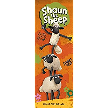 Official Shaun The Sheep 2016 Slim Calendar (Slim Standard)