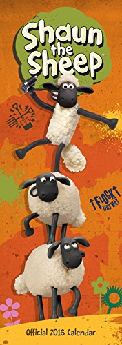 The Official Shaun the Sheep 2016 Slim Calendar (Slim Standard)