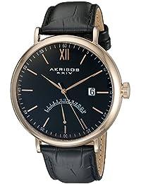 Akribos XXIV Reloj con movimiento japonés  Negro 49 mm