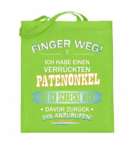 Hochwertiger Jutebeutel (mit langen Henkeln) - FINGER WEG - PATENONKEL Limette
