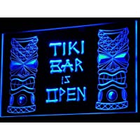 ADV PRO i573-b Tiki Bar is OPEN Mask Display NR Neon Light Sign