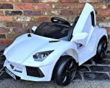 Kids Lamborghini Aventador Style Roadster 12V Battery Electric Ride on Car with Remote Control - White
