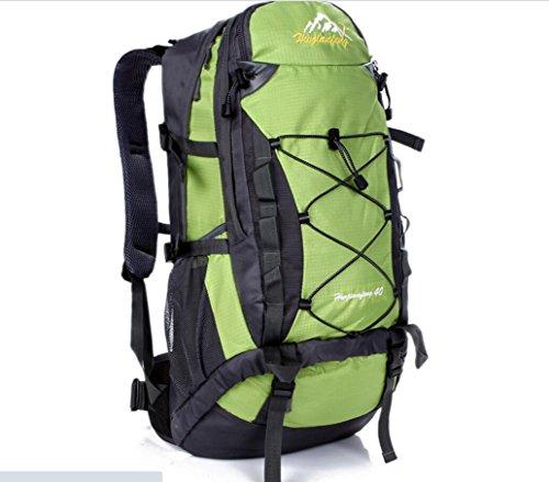 LQABW Panno Spalla Esterna Borsa Sportiva Esterna Impermeabile Escursionismo Zaino Oxford Leggero Zaino Alpinismo Durevole,Green Green