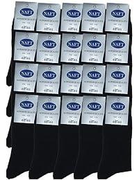 r-dessous 20 Paar Herren Socken schwarz Strümpfe Business Anzugsocken Freizeitsocken
