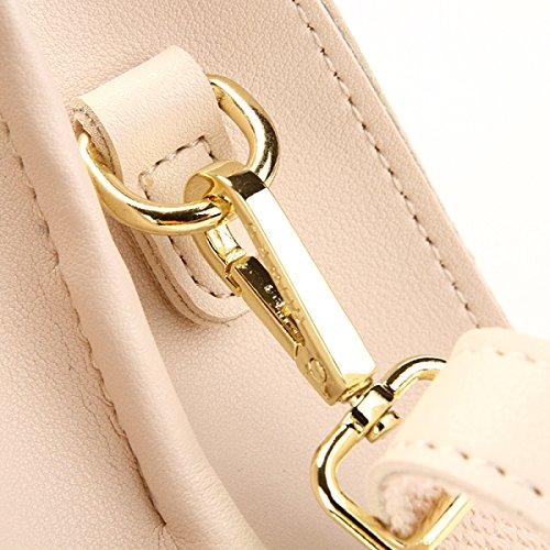 QPALZM 2017 Tassel Damen Handtasche Moderne Tote Umhängetasche White