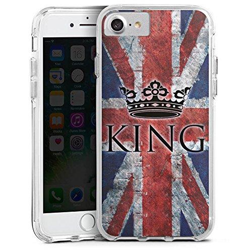 Apple iPhone 6s Plus Bumper Hülle Bumper Case Glitzer Hülle Union Jack Unionjack King Bumper Case transparent