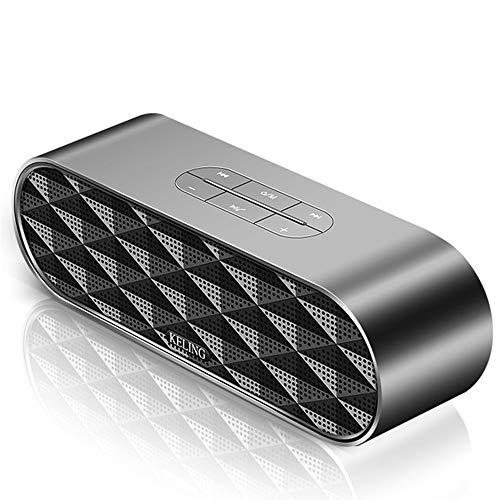 ZYWTZ Bluetooth Lautsprecher TF-Karte/U-Diskette Unterstützen,Kompatibel Mit Einer Vielzahl Von Bluetooth-Geräten,Black