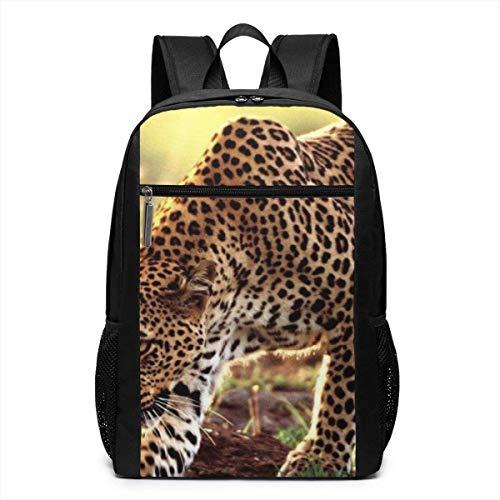 TRFashion Rucksack Cheetah Laptop Computer Backpack 17 Inch Large Casual Business Daypack Laptop Bag Schoolbag Book Bag for Men Women Black
