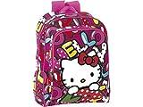 Hello Kitty Zaino adattabile a carrello di 'Sweetness' zaino tipo casual, 40 cm, 22 litri, multicolore
