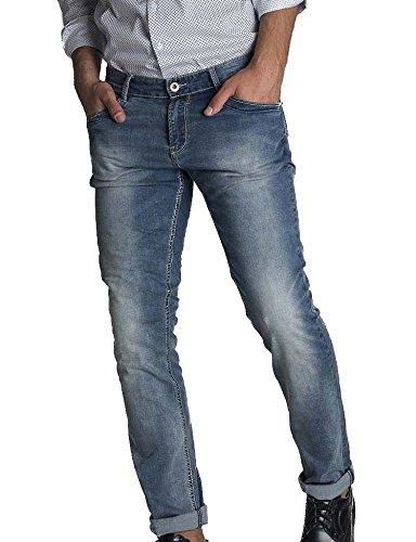 Pantolne jeans wampum wpm denim slim fit elastico modello 11100-1455 taglia 48