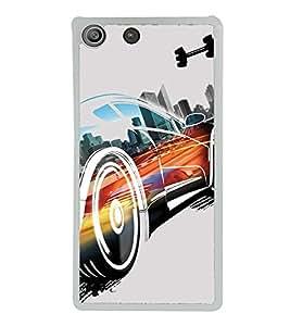 Animated Car 2D Hard Polycarbonate Designer Back Case Cover for Sony Xperia M5 Dual :: Sony Xperia M5 E5633 E5643 E5663
