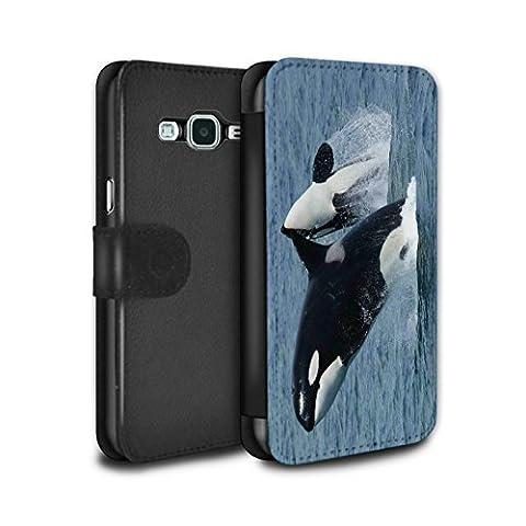 Stuff4 Coque/Etui/Housse Cuir PU Case/Cover pour Samsung Galaxy Grand Prime / Orque/Épaulard Design / Faune Marine Collection