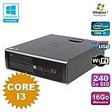 PC HP Compaq 6200 Pro SFF Core i3 3.1GHz 16 GB 240Go SSD DVD WIFI W7 Pro