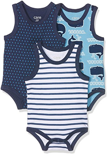 Care Bac Body Bebé-Niños, pack de 3, Multicolor (Deep Skye Blue), 98
