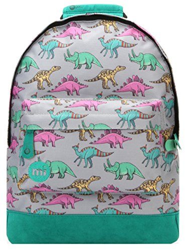 Mi-Pac Mini Backpack Mochila Infantil, 125 cm, 10.5 Litros, Dinosaurs Grey