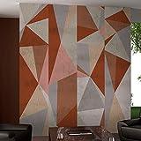 murando - PURO TAPETE - Realistische Tapete ohne Rapport und Versatz - Kein sich wiederholendes Muster - 10m Vlies Tapetenrolle - Wandtapete - modern design - Fototapete - rot violett grau blau beige f-A-0070-j-c