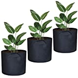 Awnic Pflanzsäcke aus Vliesstoff Säcke für Pflanzen Atmungsaktiv Langlebig 26L [3er Pack] Ø35X30cm