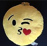 EmotiCon Kissen Kuss gelb Emoji Emotions WhatsApp Emo Kiss