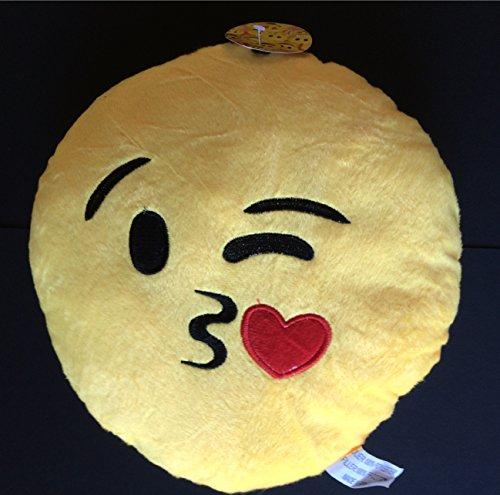 Peluche emoticon emoji cuscino 25 cm bacio whatsapp originale