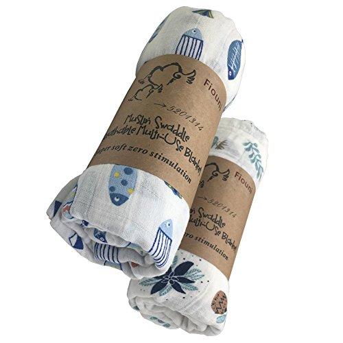 2 mantas de muselina para bebé recién nacido